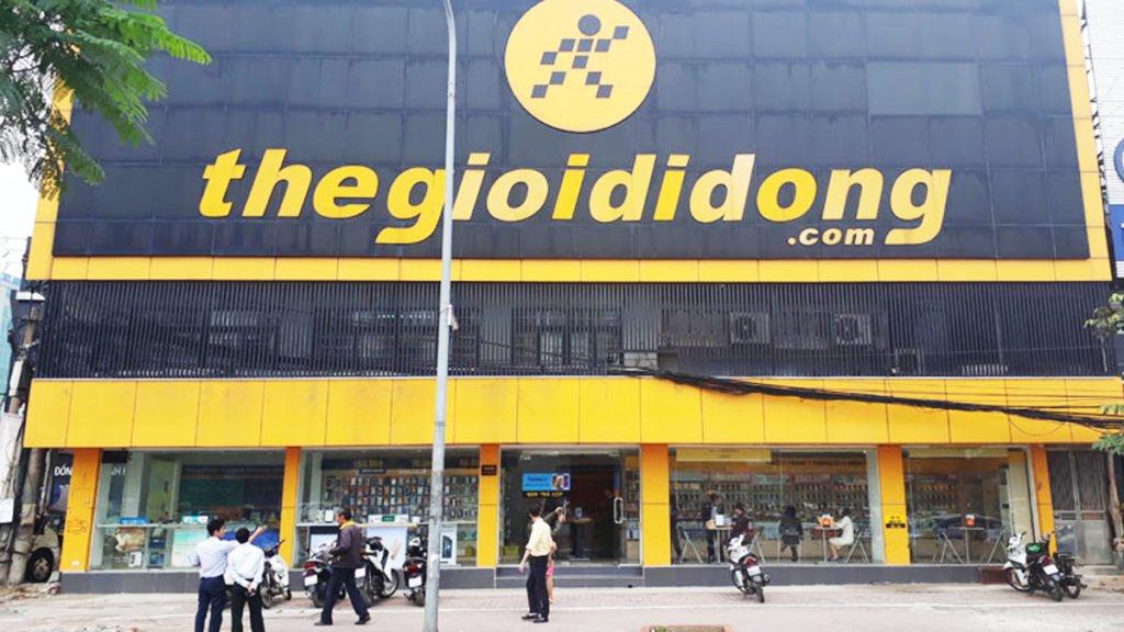 Một cửa hàng của Thế Giới Di Động trong thời gian cách ly xã hội chống Covid-19.