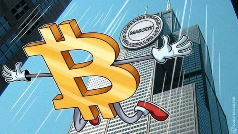 Thị trường tiền ảo mất đà tăng, giá Bitcoin lao dốc