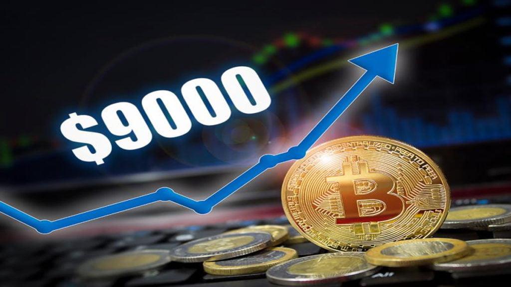 Bitcoin chinh phục thành công trở lại ngưỡng 9.000 USD